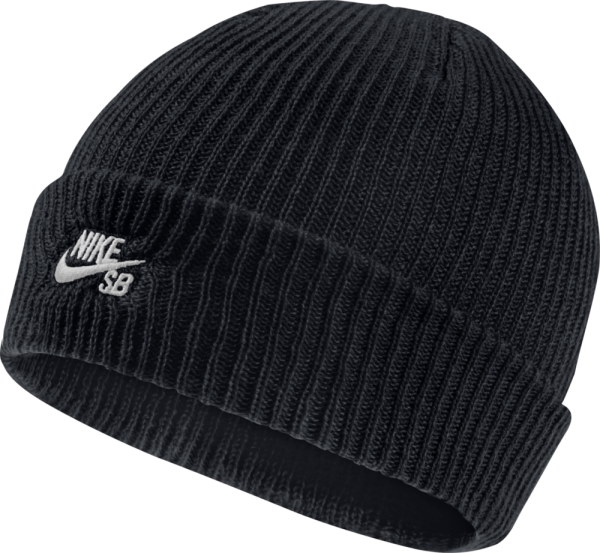 Nike - Fisherman - Accessories - Mützen - Beanies - black/white - Nike Fisherman black/white Beanie - Fisherman black/white Beanie von Nike