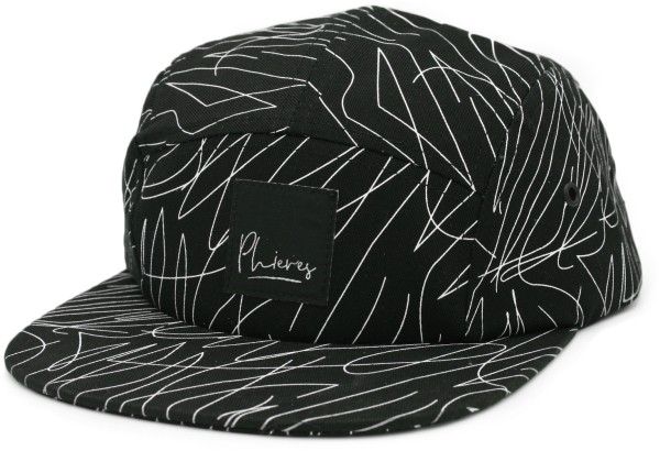 Ph5Pan - Snapack Cap - Phieres - Black white Stripe - Accessories - Caps Mützen und Hüte - Caps - Snapback Cap
