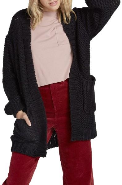 Volcom - Knit List Cardigan - Streetwear - Sweater und Strick - Strick - Strickjacke - black