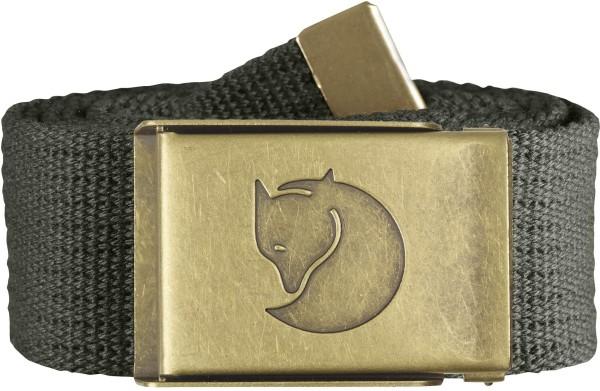 Canvas Brass Belt 4 cm.