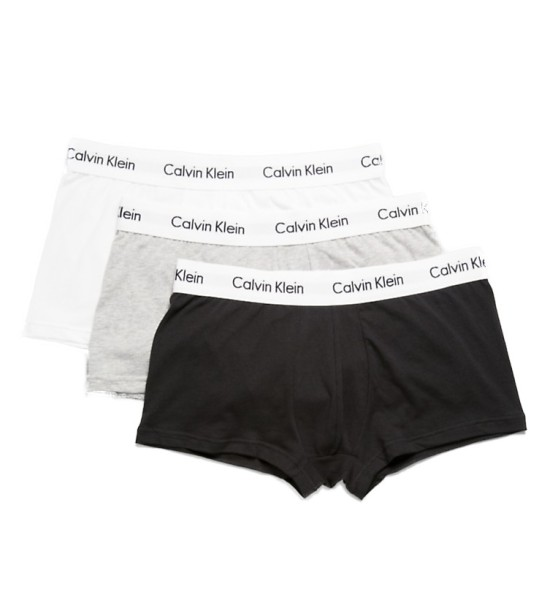 Calvin Klein - 3P LR Trunk - Boxer Short - Black/White/Grey