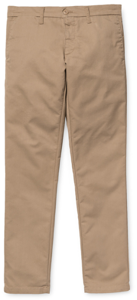 Carhartt - Sid Pant - Slim Fit - Leather rinsed