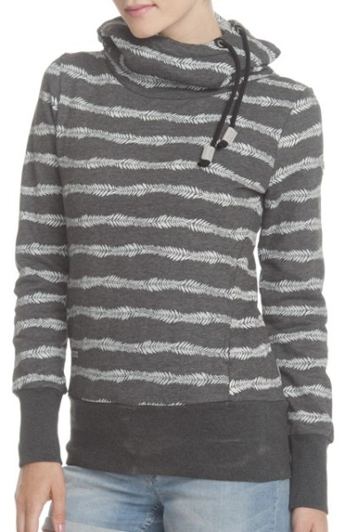Ragwear - Yoda Stripes - Damen - Black - Schwarz - BLACK - Kapuzenpulli