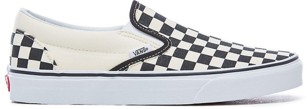 Vans - U Classic Slip-on - Schuhe - Straßenschuhe - Slippers - BLK WHT Chckerbo