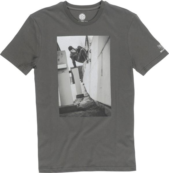 Element - EP French Fred SS - stone grey - grau - graues element shirt - element tee shirts herren - männer shirt grau von element
