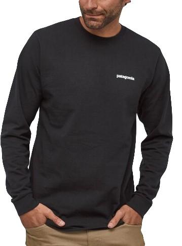P-6 Logo Responsibili-Tee - Patagonia - BLACK - T-Shirt Langarm