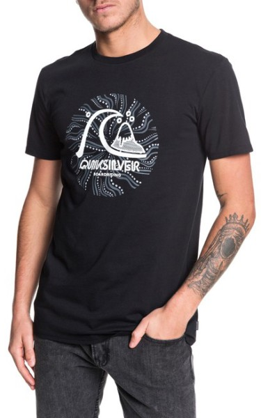 Quiksilver - Custom Prints - Streetwear - Shirts & Tops - Shirts und Tops - T-Shirt - black