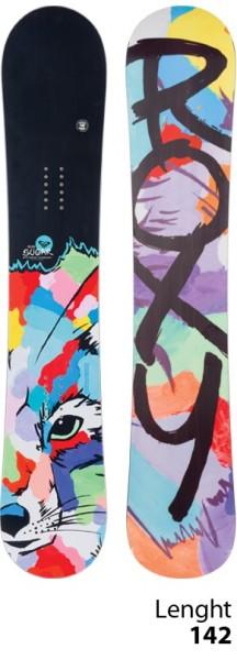 Roxy - Sugar Banana Fox - Snowboard - All Mountain Rocker - 142