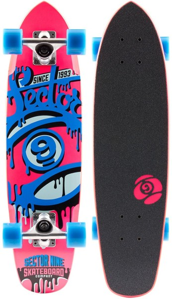 Sector 9 - The 95 - Boards & Co - Longboard - Longboard Decks - Complete Cruiser - pink/blue