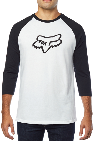 Fox - Czar Head - Streetwear - Shirts & Tops - T-Shirts Langarm - white/black