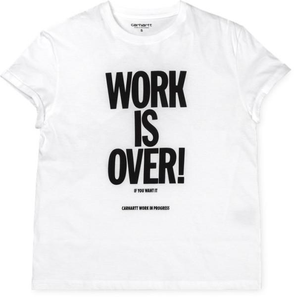 Carhartt - W' S/S Work Is Over T-Shirt - T-Shirt - Damen - Shirt - White / Black