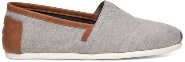 Tom's - Frost Grey Chambray Men Classics - Herren - Schuh - Frost Grey Chambray
