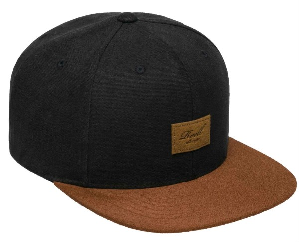 Reell - Suede 6-Panel Cap - Accessories - Caps - Snapback Caps - black