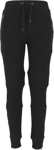 Urban Classics - Ladies Melange Biker Sweatpant - black - schwarz