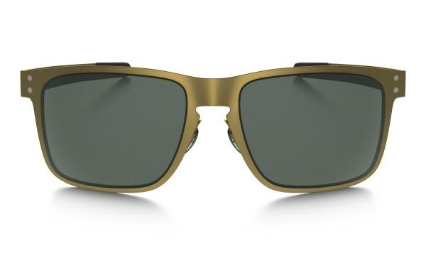 Oakley - Holbrook Metal - Sonnenbrille - Stn Gold w/dark grey