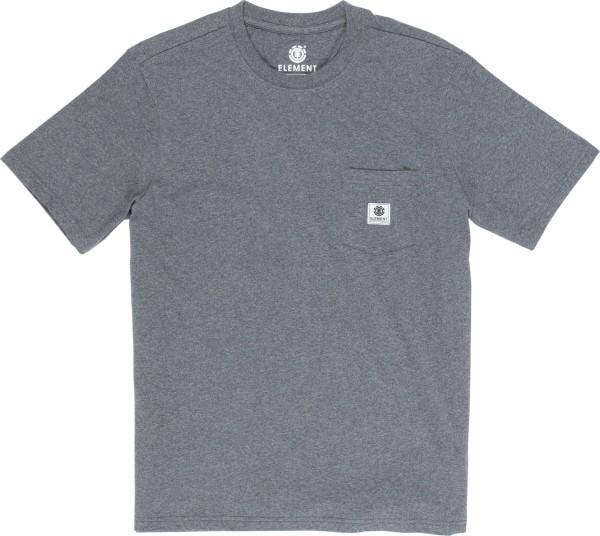 Basic Pocket Label - T-Shirt - Men - Charcoal Heather