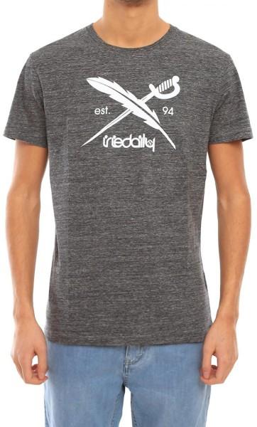 Iriedaily - Chamisso Logo - Streetwear - Shirts & Tops - T-Shirts - anthracit melange