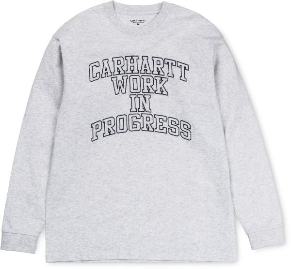 Carhartt - WIP Division Embro - ash heather - grau - Streetwear - Shirts & Tops - T-Shirts Langarm