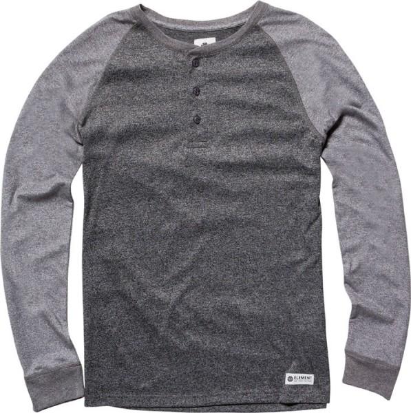 Element - STANLEY - Charcoal Heather - Longsleve - Langarm T-Shirt