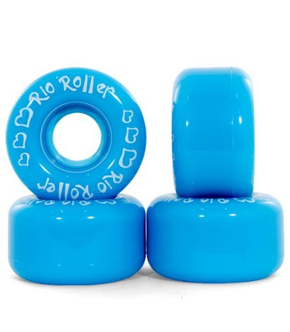 Rio Roller - Wheels blue - blaue Räder - Rollschuh Räder - Rollerskate Wheels - Rio Roller Wheels - Rio Roller Zubehör - Rollschuh Räder blau