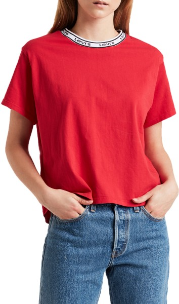 Levis - Varsity Tee - Lychee Red - Fashion Tops