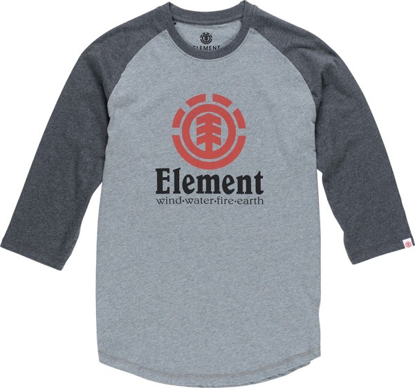 Element - Vertical Raglan - Streetwear - Shirts & Tops - T-Shirts Langarm - grey heather