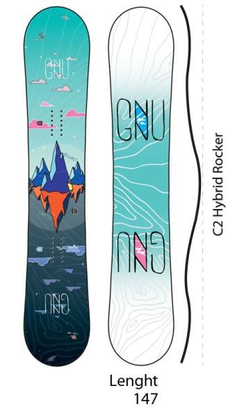 Asym Velvet - Gnu - nocolor - Snowboard