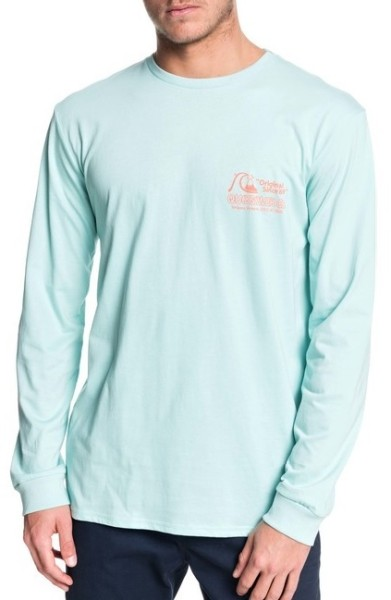 Daily Wax LS - Quiksilver - Pastel Turquoise -  T-Shirt Langarm